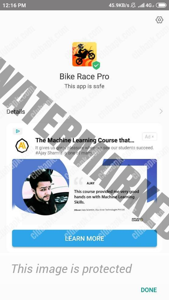 Bike Race Pro installed