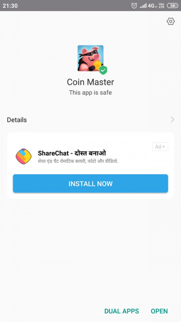 Coin Master installed