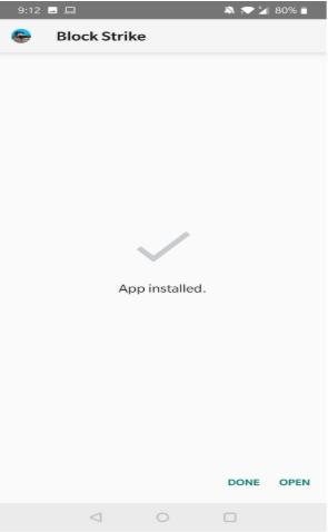 Block Strike Mod APK installed