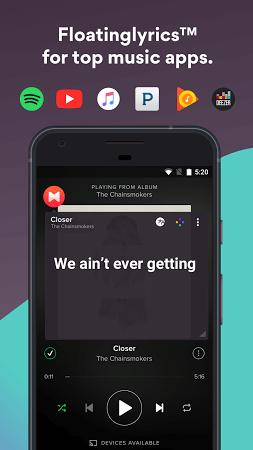Musixmatch apk screenshot